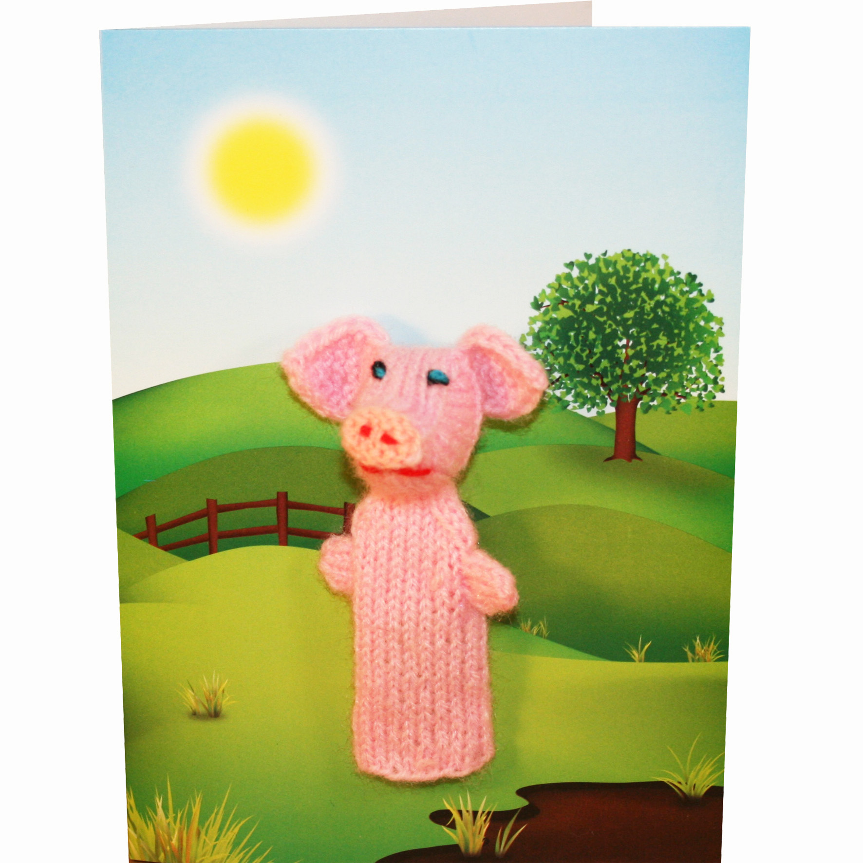 6 x pig finger puppet greeting cards buy finger puppets at related products kristyandbryce Gallery
