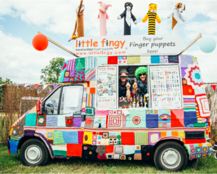 The knitted Little Fingy van