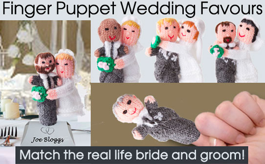 wedding finger puppets