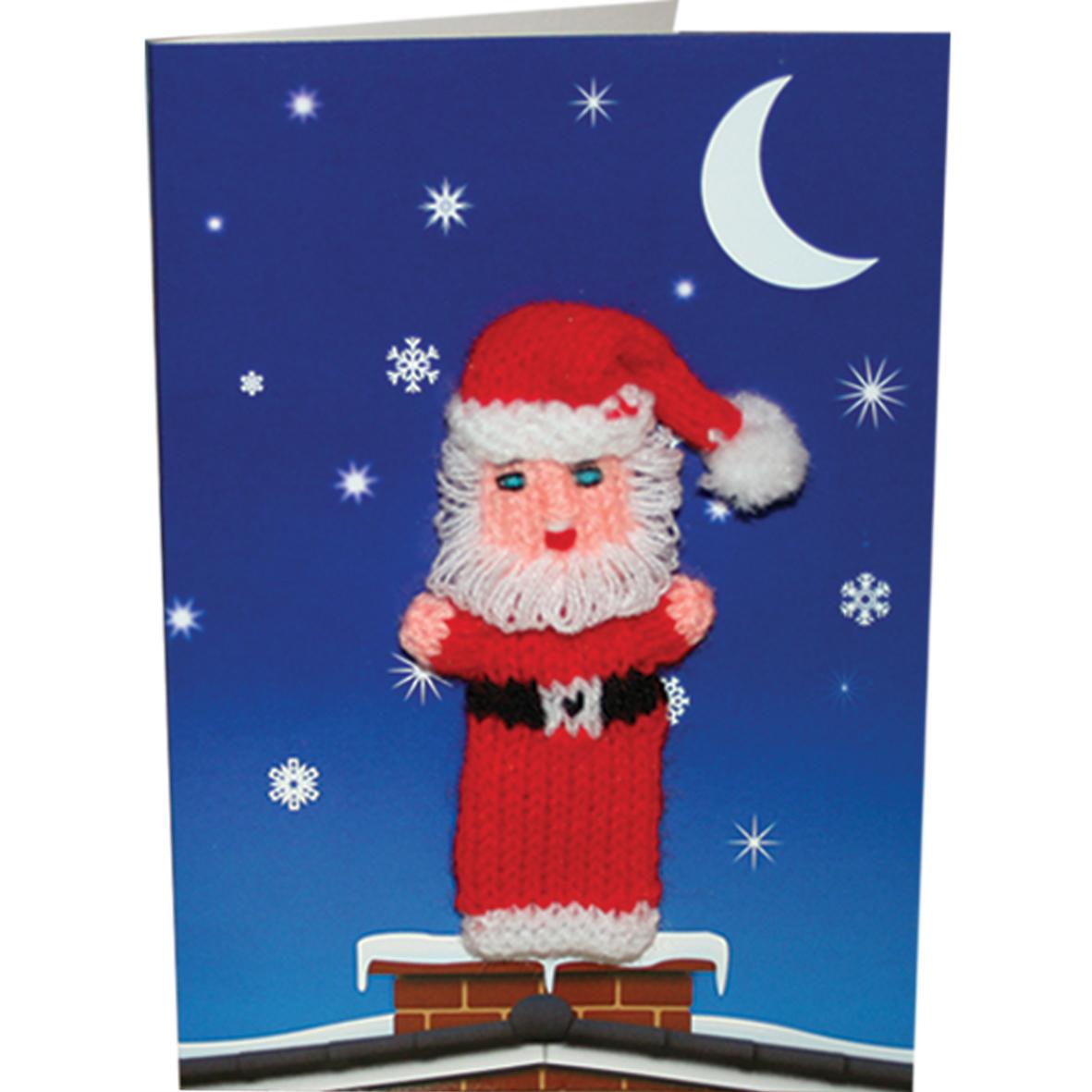 Santa On Chimney Finger Puppet Greeting Card Buy Finger Puppets At