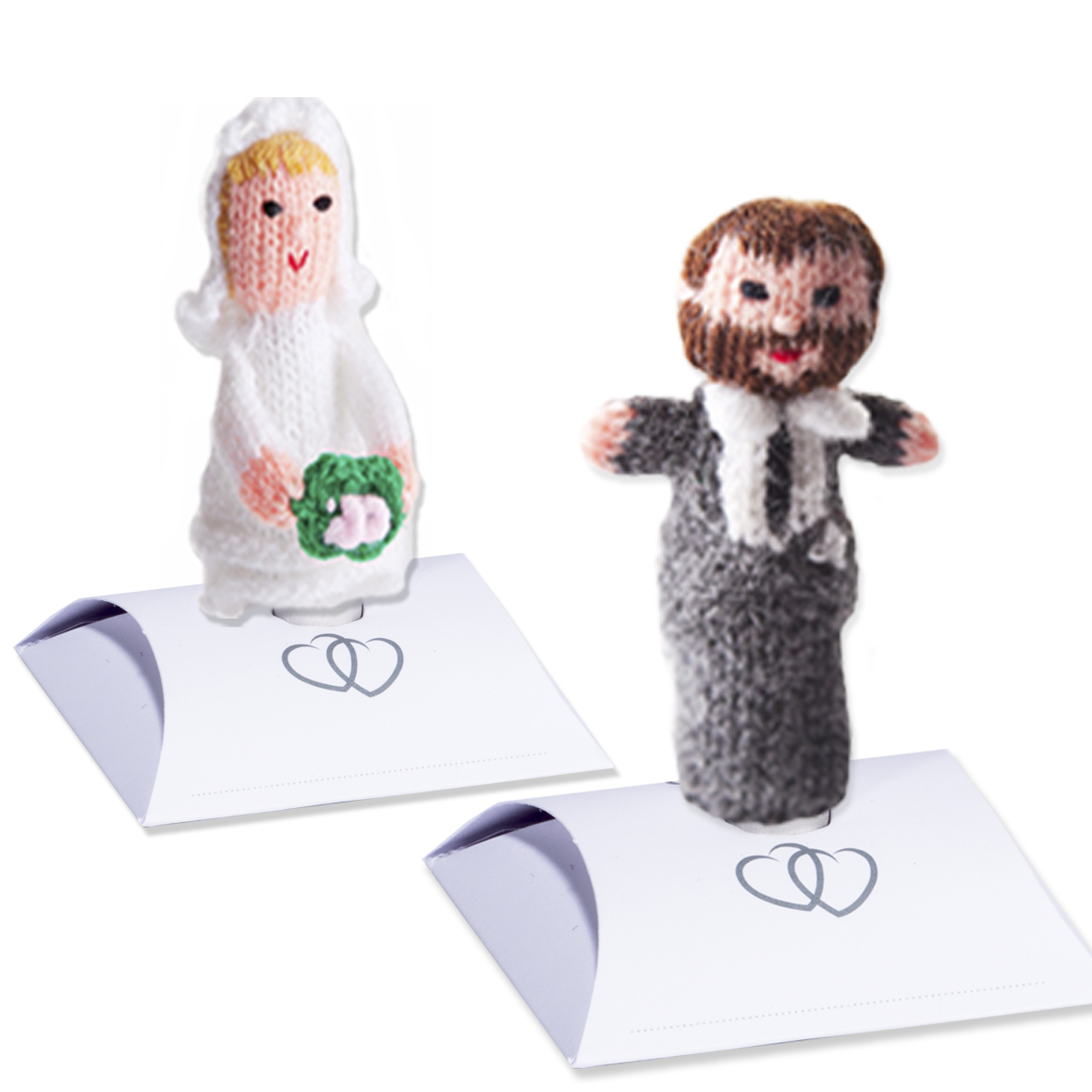 Bride OR groom puppet on stand (Choose from different hair/skin types)